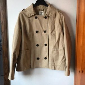Fall/spring double-breasted Pea  Coat XXL